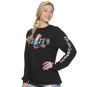 🐢Disney Minnie Mouse Long Sleeve Graphic Tee NWT